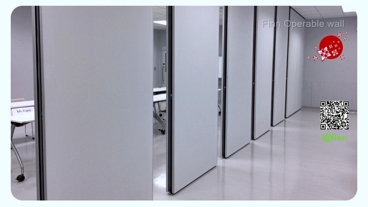 """ผนังกั้นห้องประชุมเก็บเสียง ชนิดเคลื่อนย้ายได้ """"Operable Wall System"""" By FINN De'cor"""